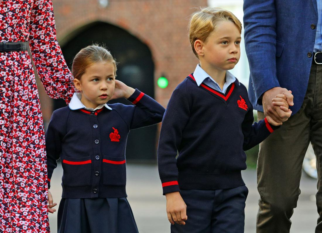 Princesa Charlotte in princ George. Foto: Aaron Chown/Reuters